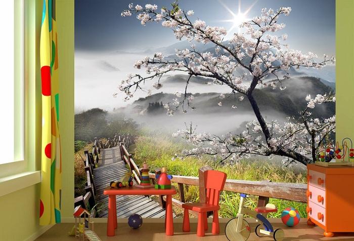 обои цветущее дерево