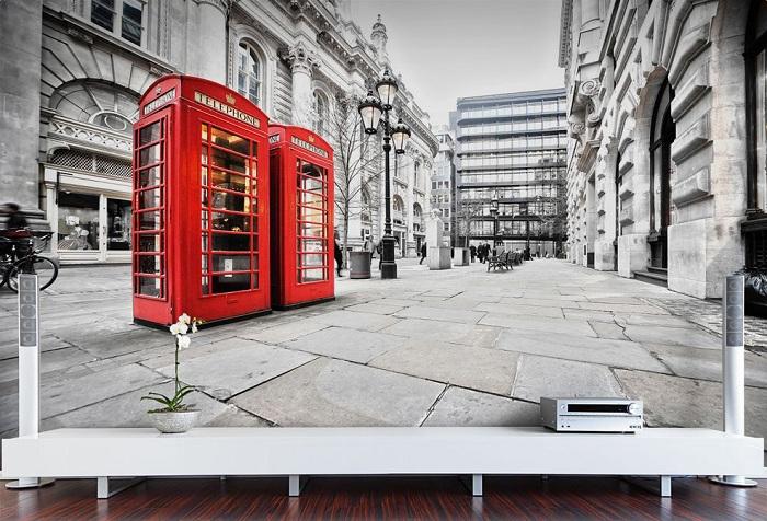 обои с изображением телефонной будки