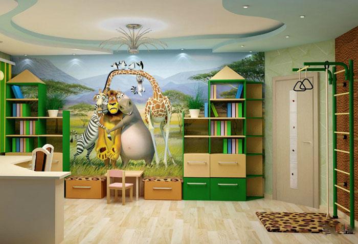 Фотообои с персонажами мультфильма в детской