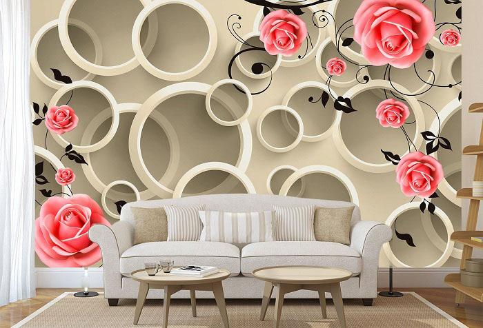 Фотообои 3D с розами