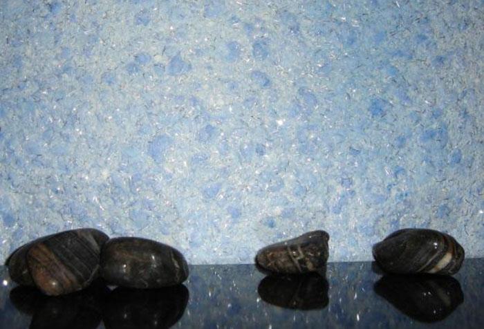 Голубые жидкие обои