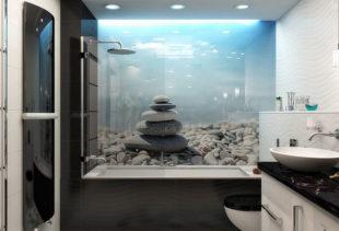 Стоит ли для ванной комнаты выбирать влагостойкие фотообои?