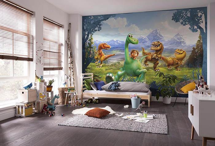 Обои с динозаврами в детской