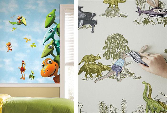 Варианты обоев с динозаврами